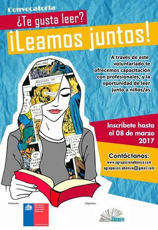 Quinta convocatoria para el proyecto Leamos Juntos: red de voluntariado en hogares