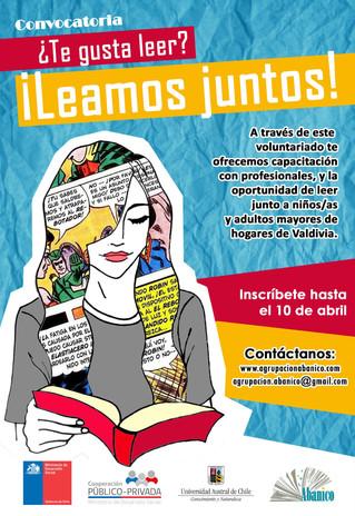 """Nueva convocatoria a voluntarios/as para el proyecto """"Leamos Juntos"""""""