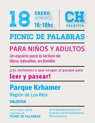 Cuarto Picnic de Palabras en el Parque Khramer este domingo 18 de enero