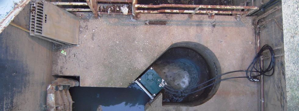 JWC Channel Monster grinder retrofit installation into comminutor bowl