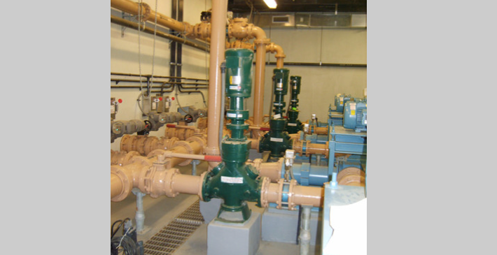 JWC Muffin Monsters installed to protect sludge pumps in solids dewatering application