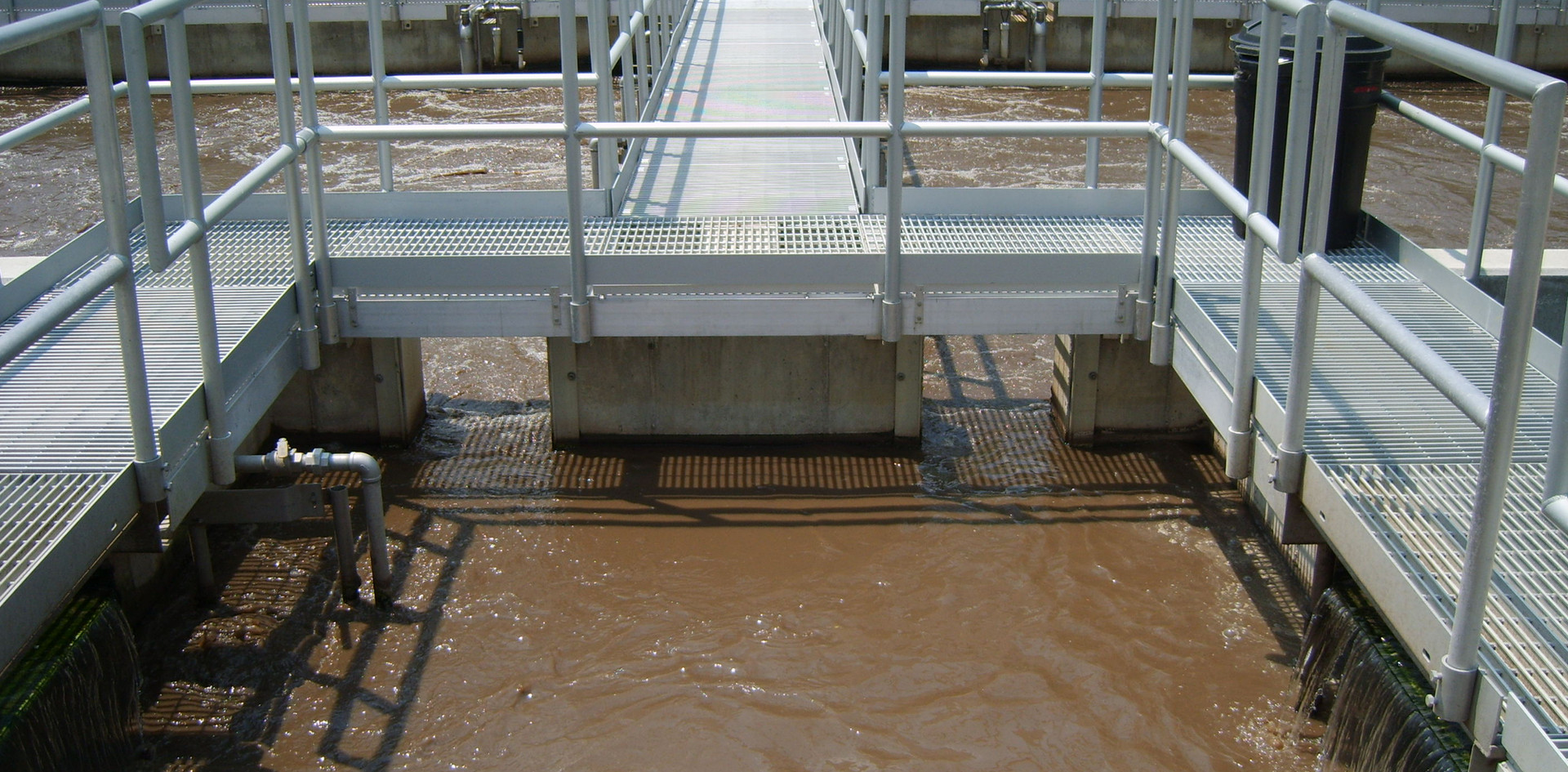 Aero-Mod continuous flow BNR treatment plant utilizing common wall construction