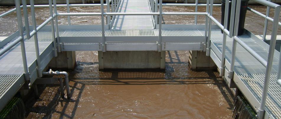 Aero-Mod continuous flow BNR treatment plant utilizing common wall construction