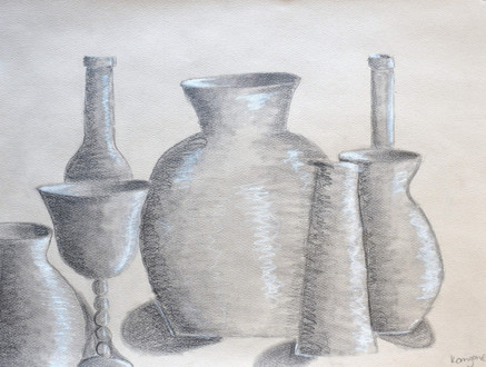 """Still Life of Bottles"""" byKerrigan E"""