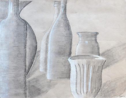 """""""Still Life of Bottles"""" by Devin"""