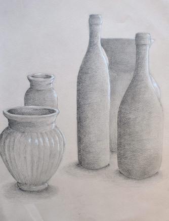 """Still Life of Bottles"" by Julie"