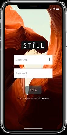 """""""Still"""" app mockup: login screen"""