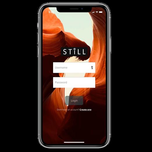 """""""Still"""" Mockup, login screen"""