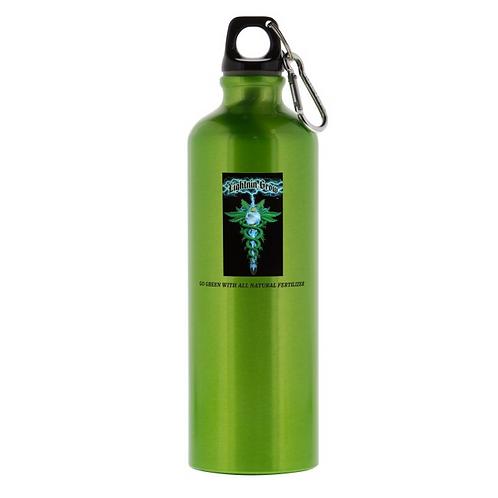 26 oz. Custom aluminum water bottles - Green #127712