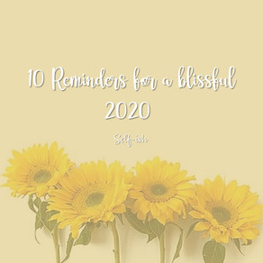 10 Reminders for a blissful 2020!