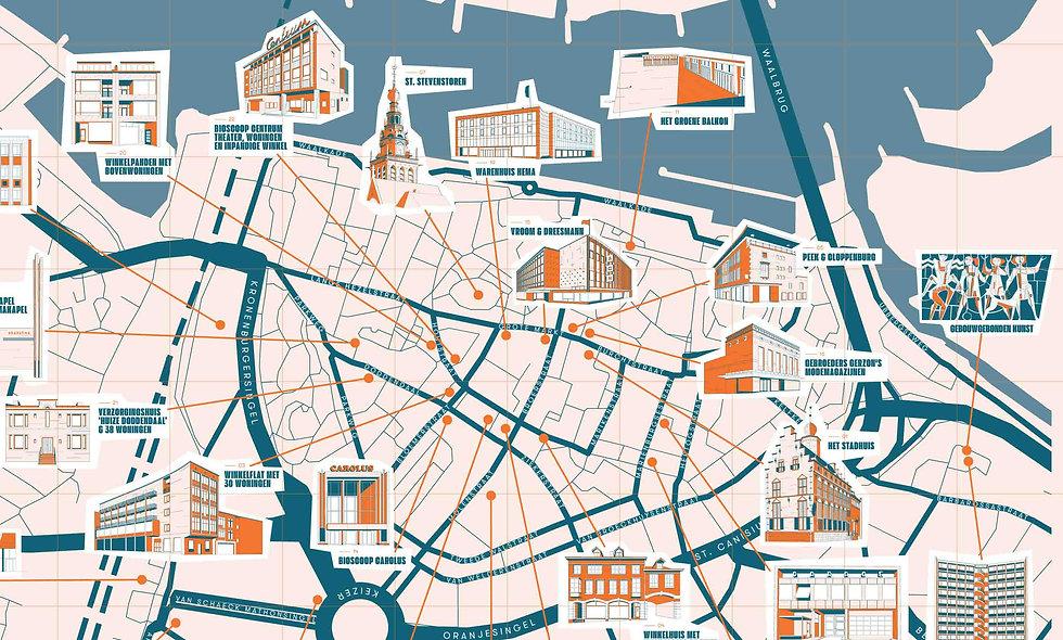 Wederopbouwkaart Nijmegen