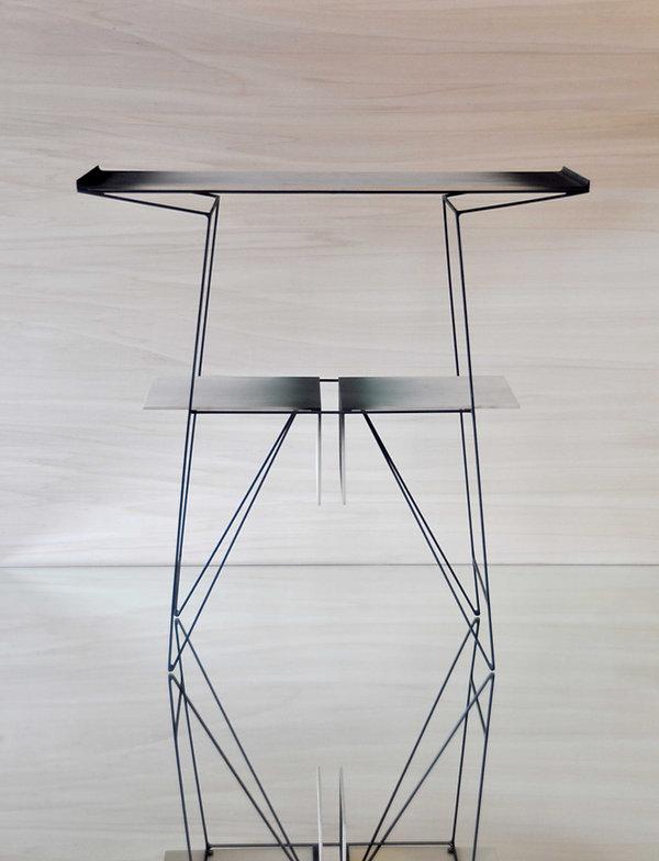 """Mr.César """"TANCARVILLE"""" console métal-design mobilier- création meuble"""