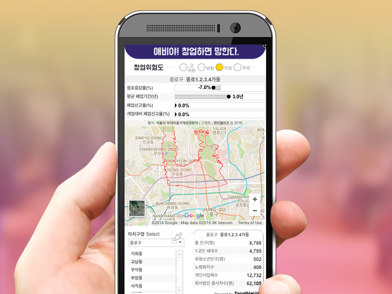 서울창업상권 위험지표