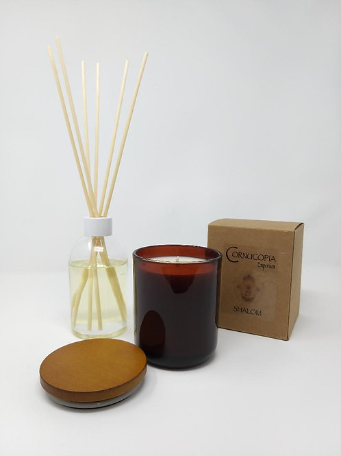 30cl LUXURY SCENTED CANDLE & 200ml REED DIFFUSER