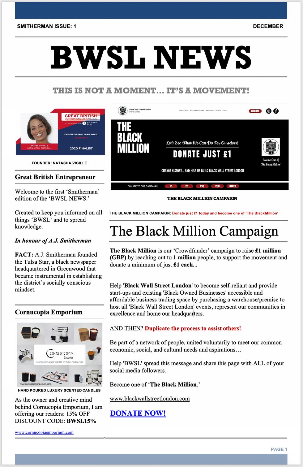BWSL NEWS PAGE 1