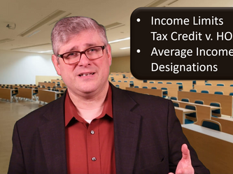 Video Blog 3/25/2020 - Income Limits: HOME v. Tax credit & The Average Income Test Graphic