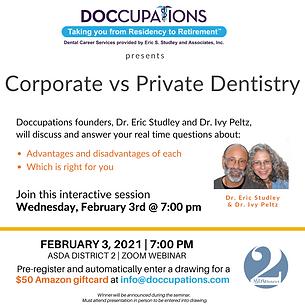 Corporate vs Private Dentistry ASDA Dist
