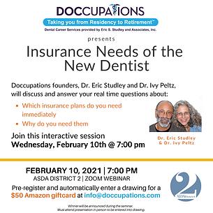 Insurance Needs of the New Dentist ASDA