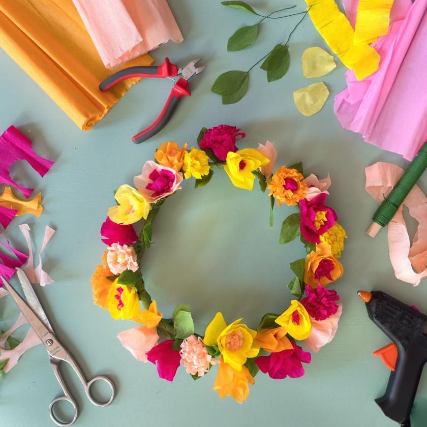 Kreativstrecke Blütenkranz