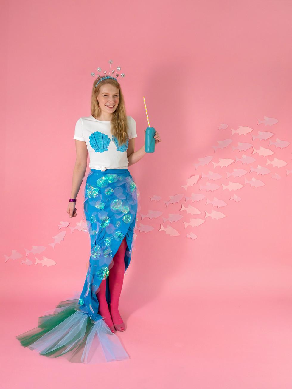 mermaid costume for OhHappyDay.com