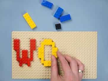DIY Anleitung Schlüsselbrett aus Lego