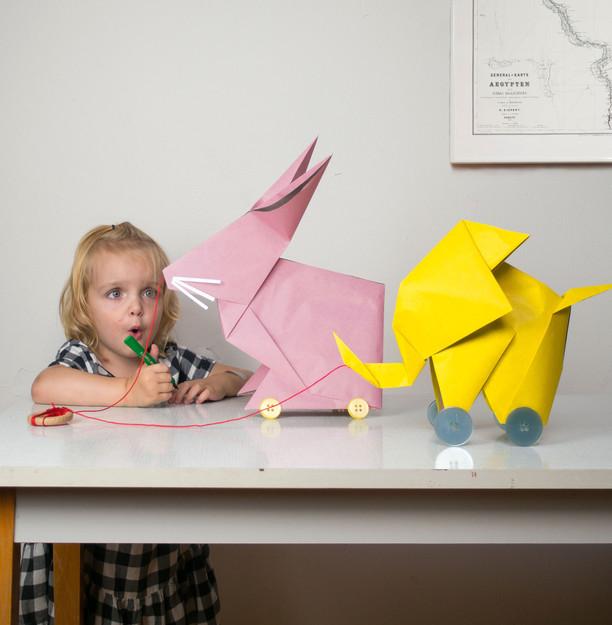 DIY Origami-Nachziehtier