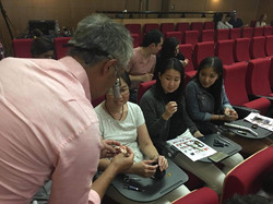 Dr Terry Wong in action teaching.