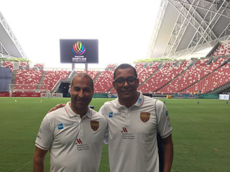 In Singapore with Gilberto Silva