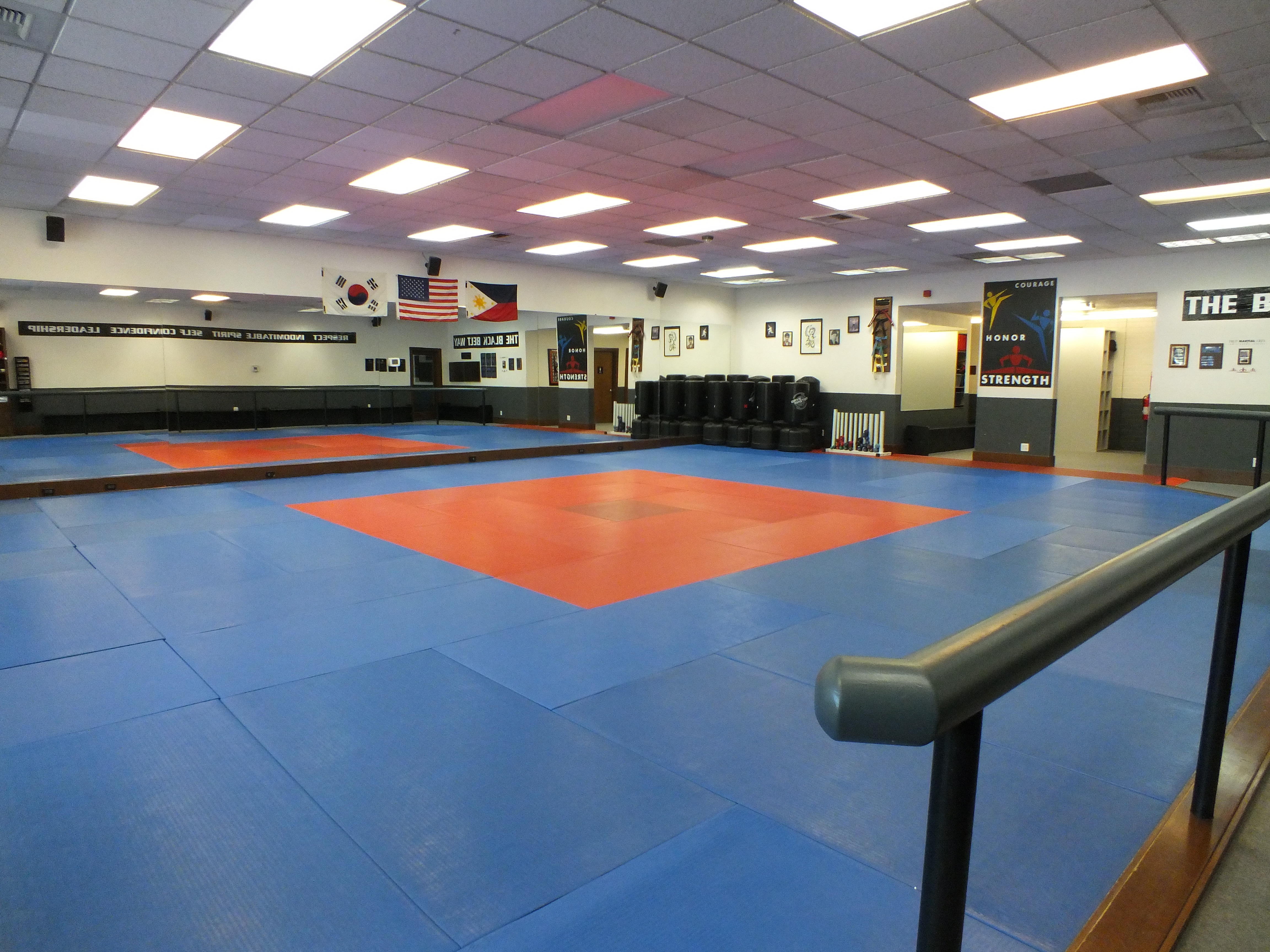 Main training floor