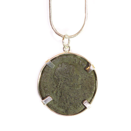 Colgante moneda romana auténtica siglo IV