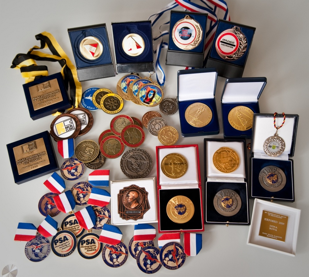 Some of photo-contests medals