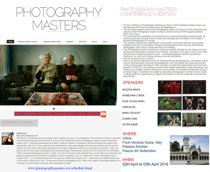 Photography Masters Conference - Italy April 2016