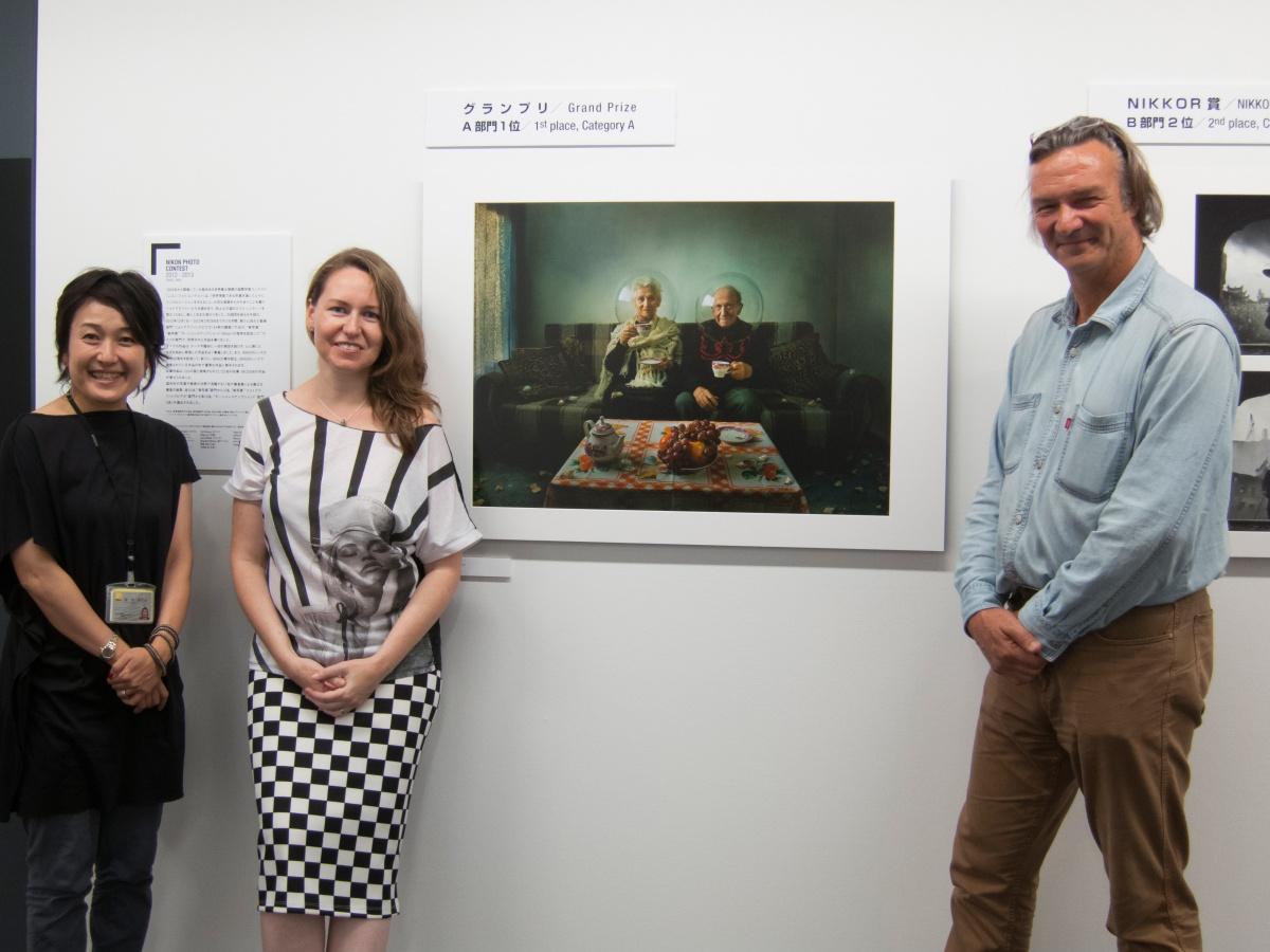 At Nikon winners exhibition - Tokyo