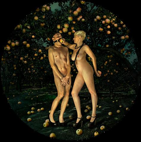 Adam and Eve - Garden of Heavenly Delights