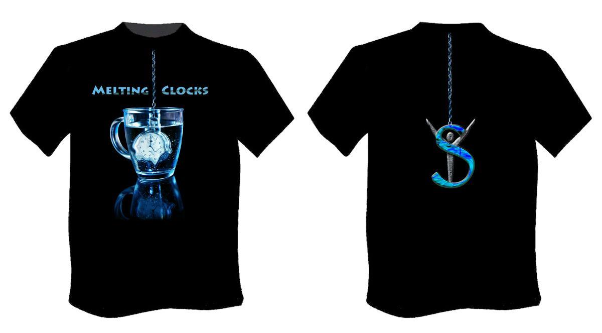 Melting clocks t-shirt