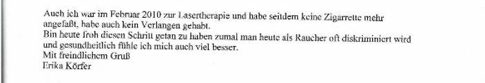 IT-Laser Laser Rauchen aufhören Raucherentwöhnung Lasertherapie Aachen Düsseldorf Köln