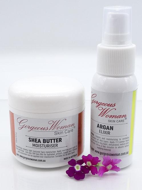 GW Shea Butter Moisturiser & GW Argan Elixir