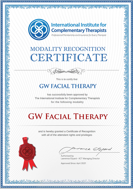 GW Facial Therapy IICT Modality Certific