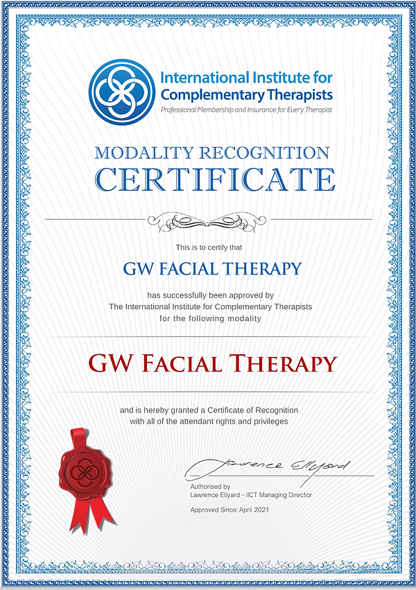 GW Facial Therapy IICT Modality Certificate.PNG