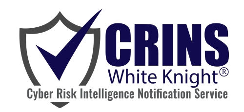 CRINS cyber risk intelligence notification service logo - White Knight
