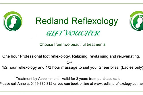 Reflexology Gift Voucher