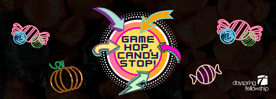 Copy of Game Hop, Candy Stop Event Heade