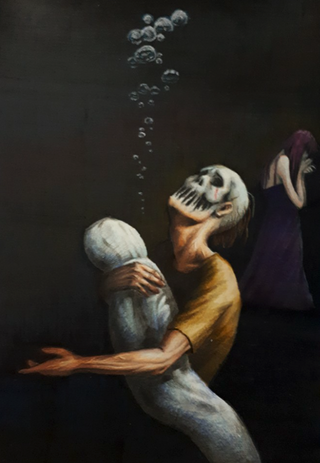 Trauma (2020, 8x12, Colored Pencil)