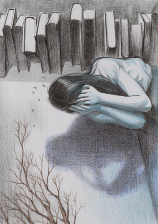 Isolation (2019, 8x12, Colored Pencil)