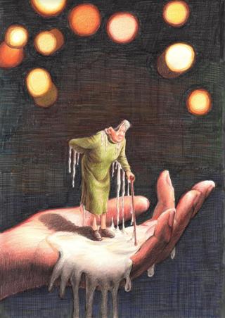 Remorse (2020, 8x12, Colored Pencil)
