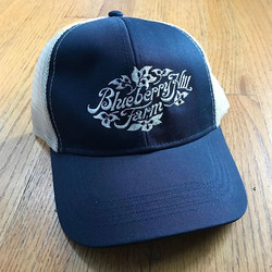 Loving these trucker hats for Blueberry Hill Farm