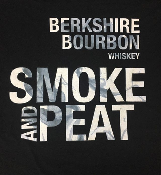 In love with the smoke effect on these tees for Berkshire Mountain Distillers
