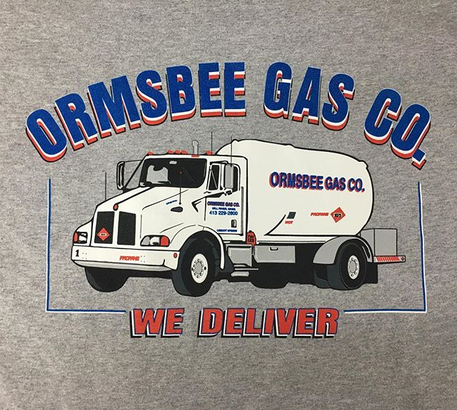 Captured all the little details on this truck on work tees for Orsmbee Gas Co