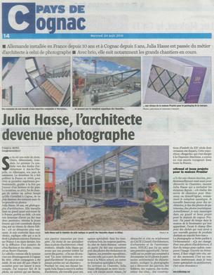 Bel Article dans Charente Libre!