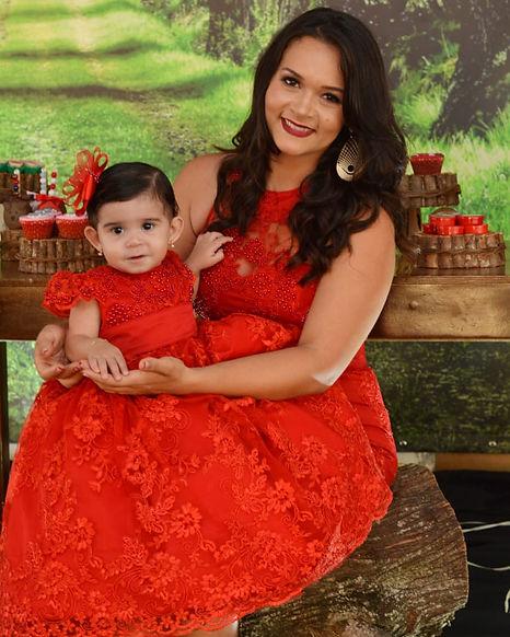 vestido mãe e filha/ atelier leo xavier/ vestido aniverário/ vermelho